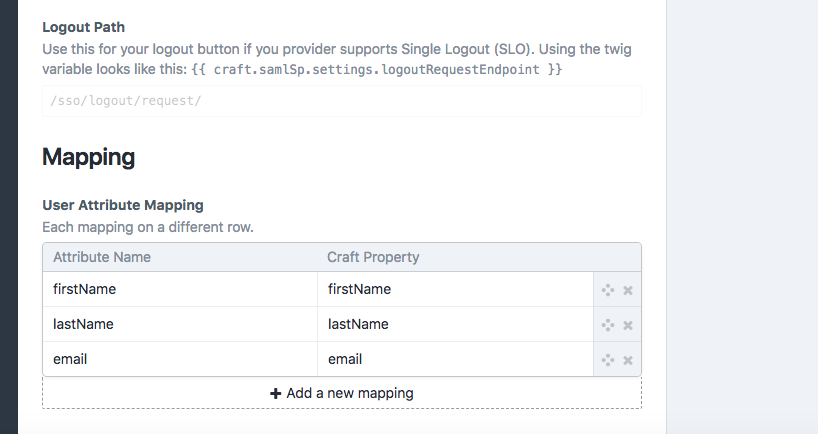 CraftCMS - Map Attributes from Okta to CraftCMS Properties